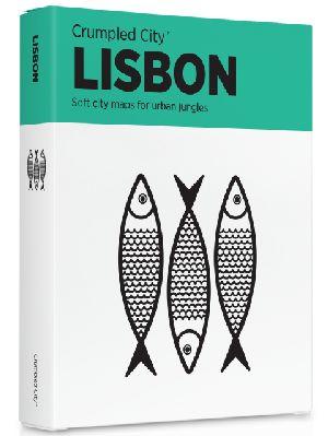 Crumpled City Map-Lisbon