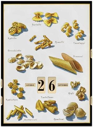 Pasta 2014 Perpetual Poster Calendar